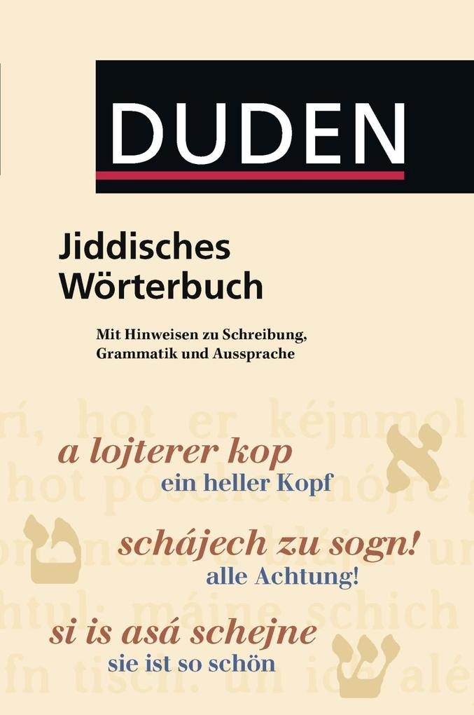 Jiddisches Wörterbuch als Buch