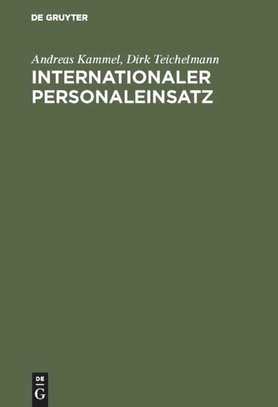 Internationaler Personaleinsatz als Buch