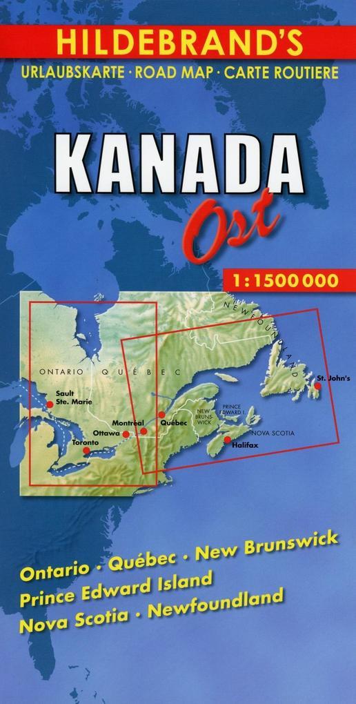Kanada ( Canada) Ost 1 : 1 500 000 / Hildebrand's Urlaubskarte als Buch