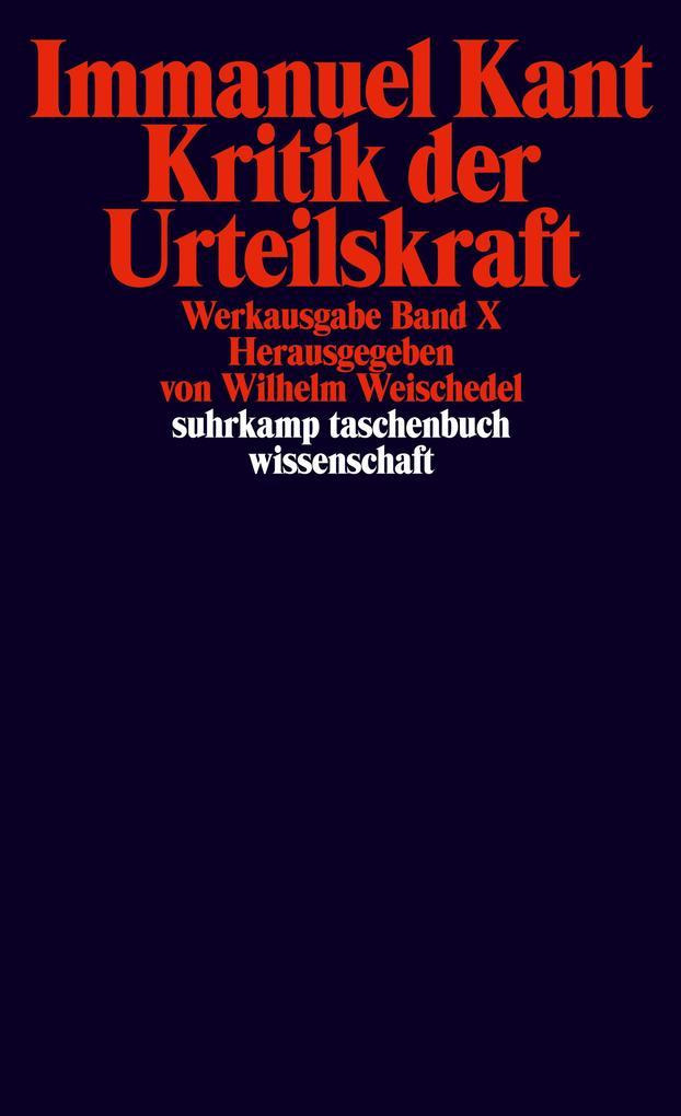Kritik der Urteilskraft als Taschenbuch