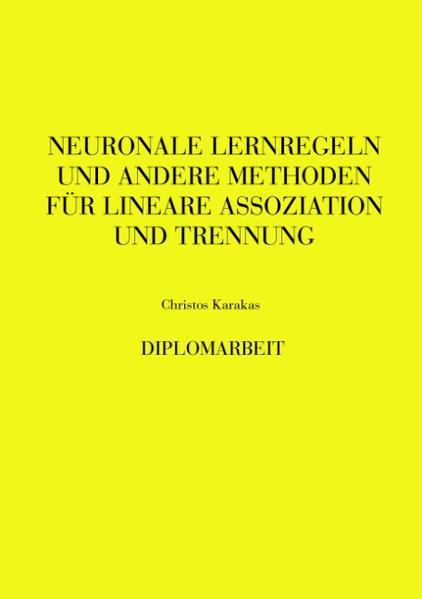 Neuronale Lernregeln und andere Methoden als Buch