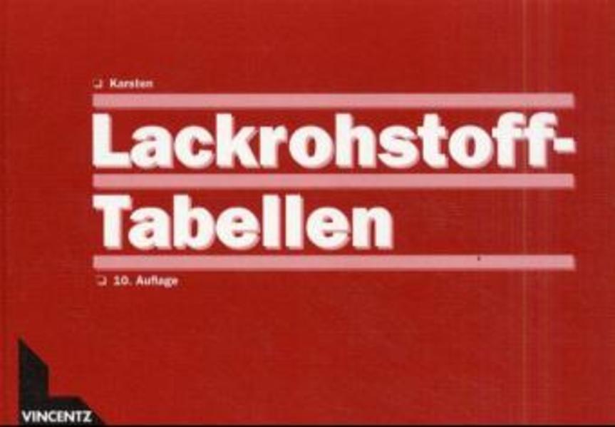 Lackrohstoff-Tabellen als Buch