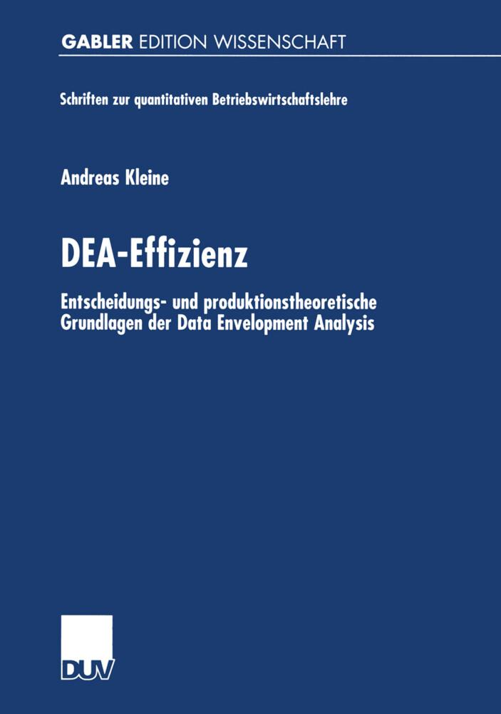 DEA-Effizienz als Buch
