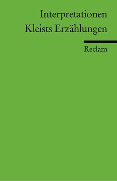 Kleists Novellen. Interpretationen als Taschenbuch
