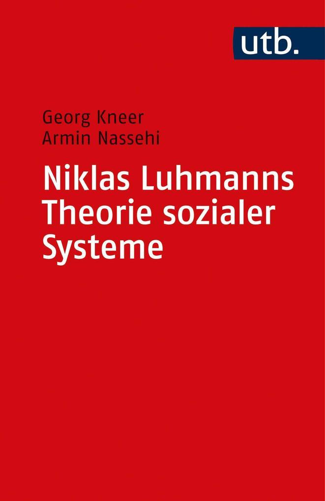 Niklas Luhmanns Theorie sozialer Systeme als Taschenbuch