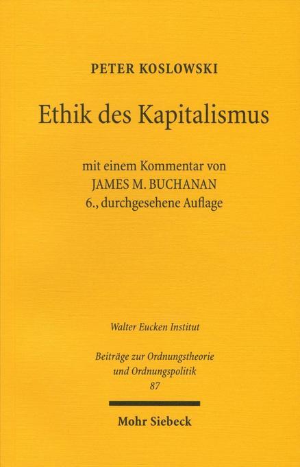 Ethik des Kapitalismus als Buch