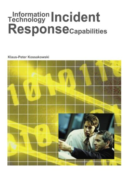 Information Technology Incident Response Capabilities als Buch
