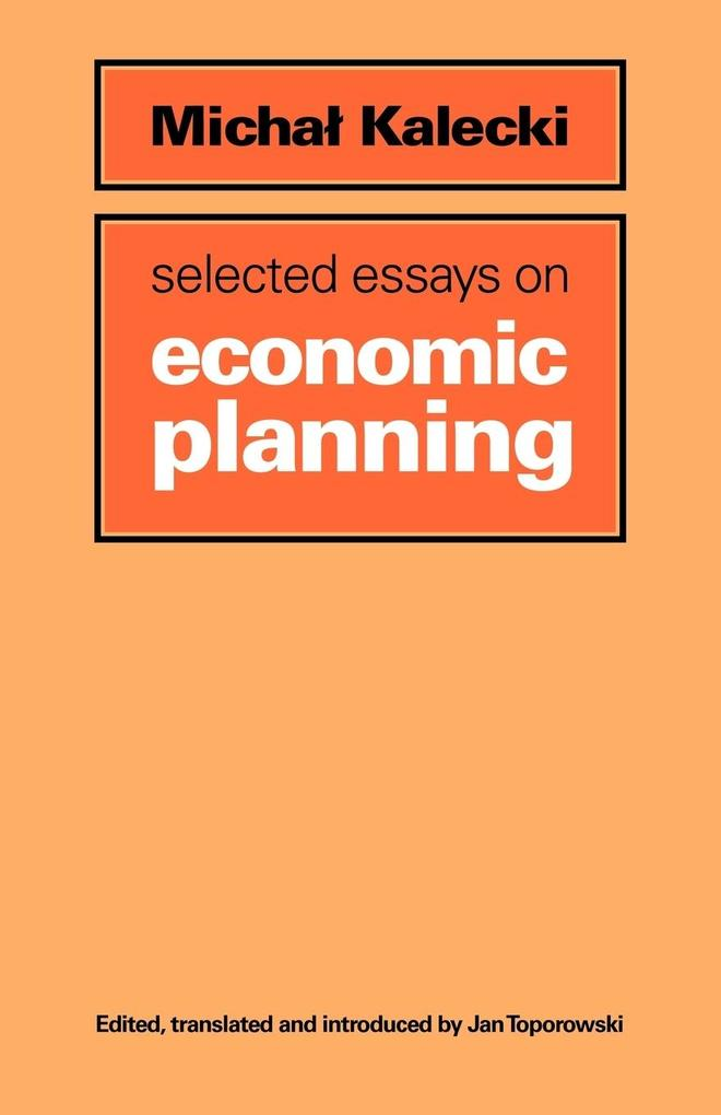 Selected Essays on Economic Planning als Taschenbuch