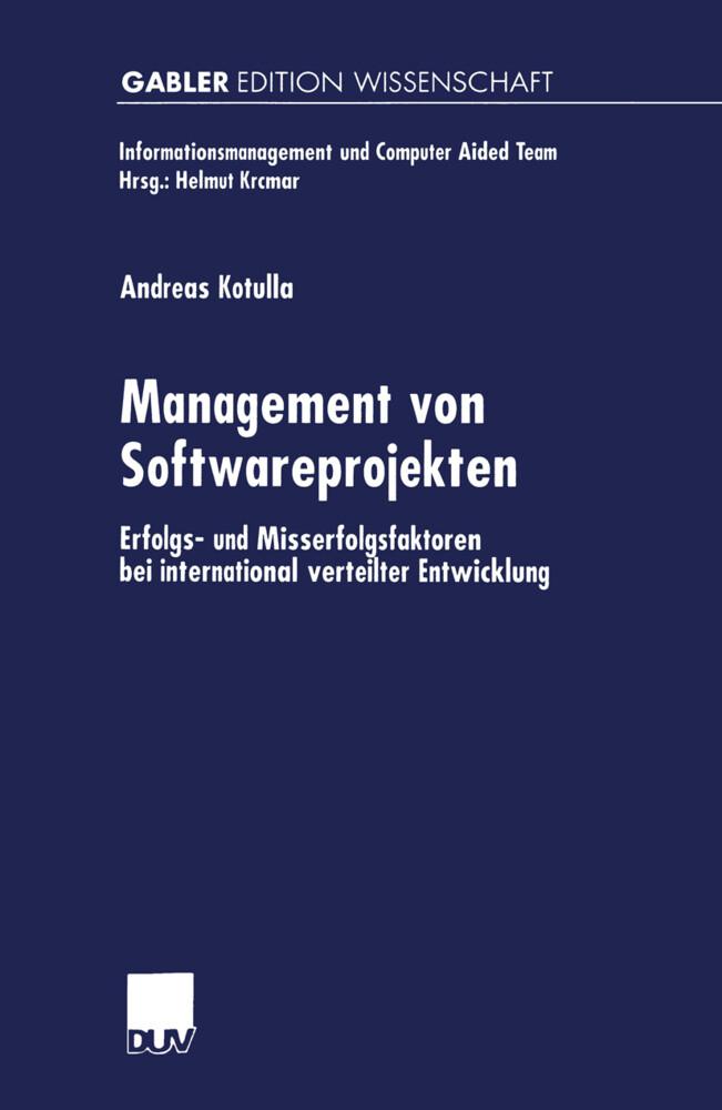 Management von Softwareprojekten als Buch