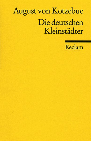 Die deutschen Kleinstädter als Taschenbuch