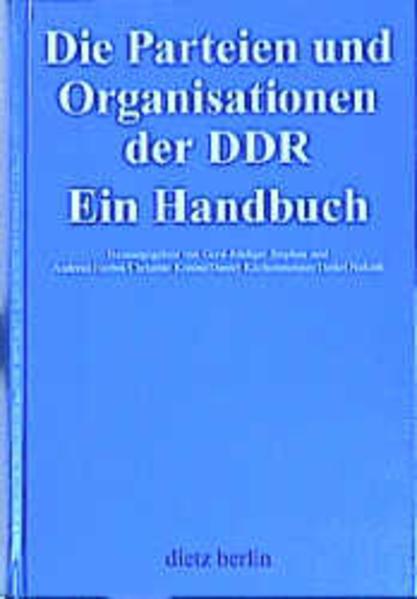 Die Parteien und Organisationen der DDR als Buch