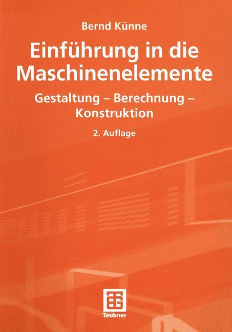 Einführung in die Maschinenelemente als Buch