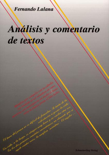 Analisis y comentario de textos als Buch
