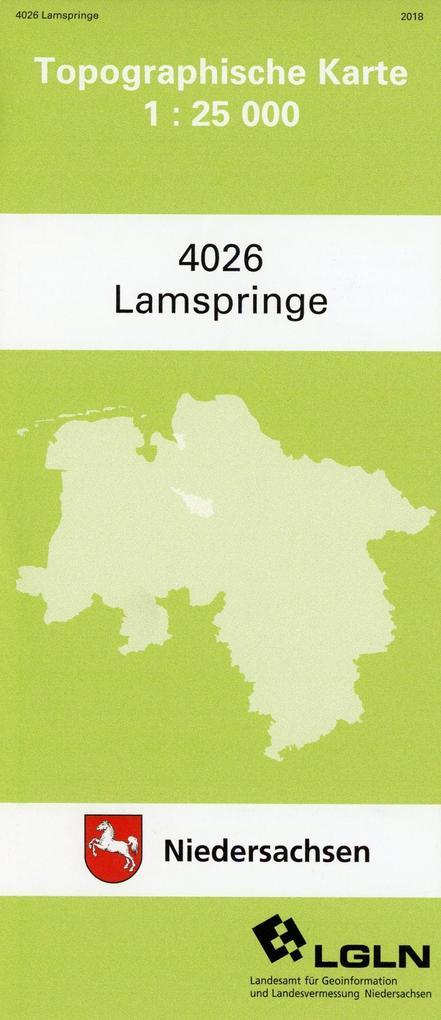 Lamspringe 1 : 25 000. (TK 4026/N) als Buch