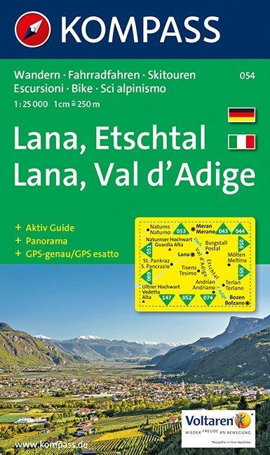 Lana - Etschtal/Val d'Adige 1 : 25 000 als Buch