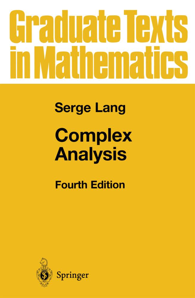 Complex Analysis als Buch