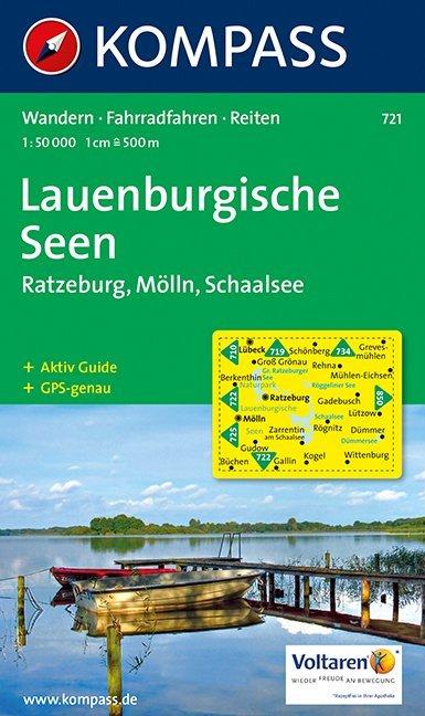 Lauenburgische Seen - Ratzeburg - Mölln - Schaalsee 1 : 50 000 als Buch