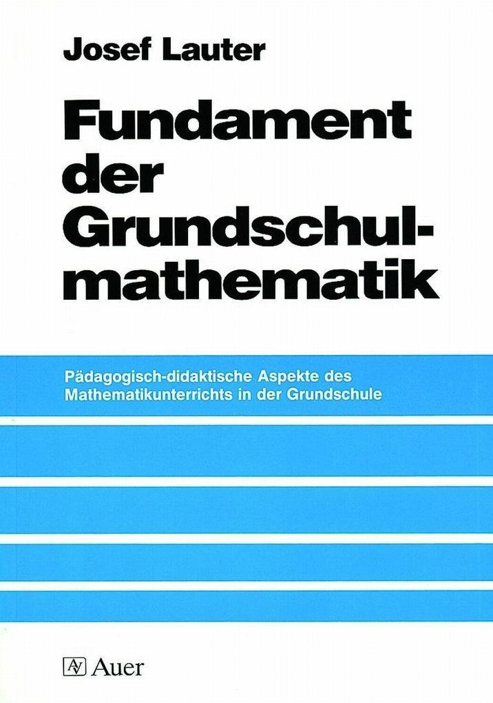 Fundament der Grundschulmathematik als Buch