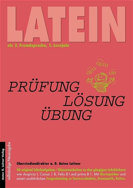 Latein als 2. Fremdsprache, 1. Lernjahr als Buch