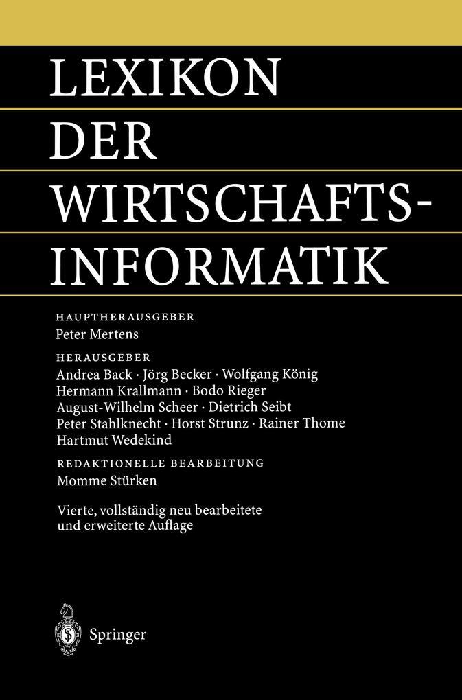 Lexikon der Wirtschaftsinformatik als Buch