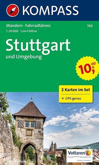 Stuttgart und Umgebung 1 : 50 000 als Blätter und Karten