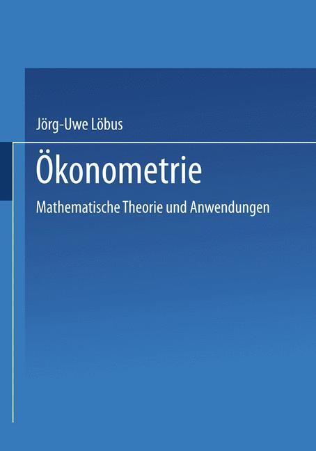 Ökonometrie als Buch