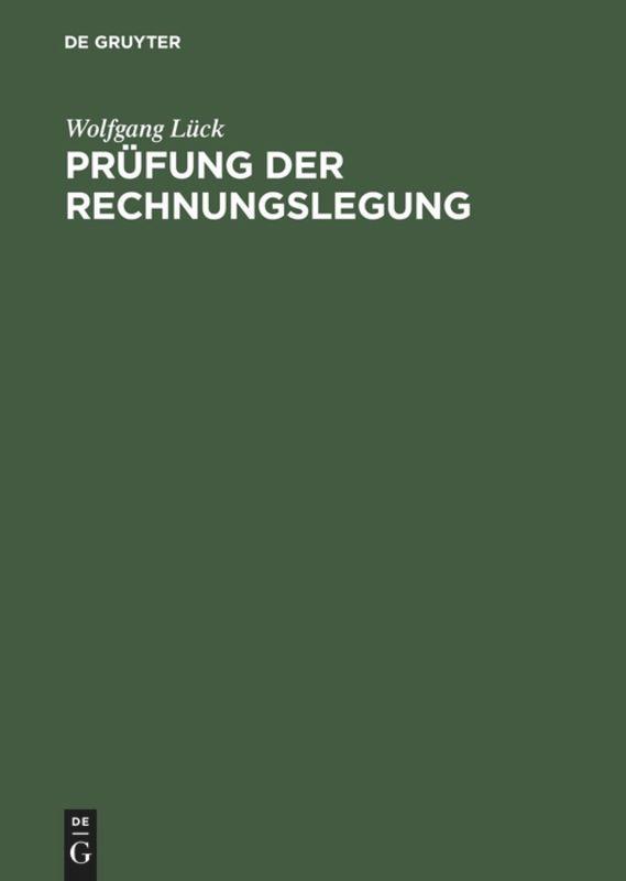 Prüfung der Rechnungslegung als Buch