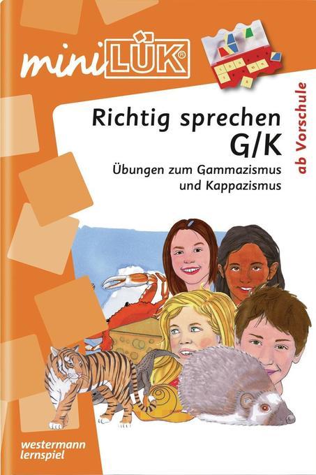 miniLÜK. Richtig sprechen G/K als Buch