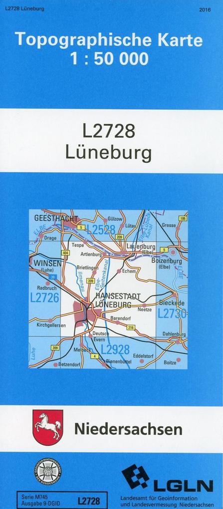 Lüneburg 1 : 50 000 als Buch