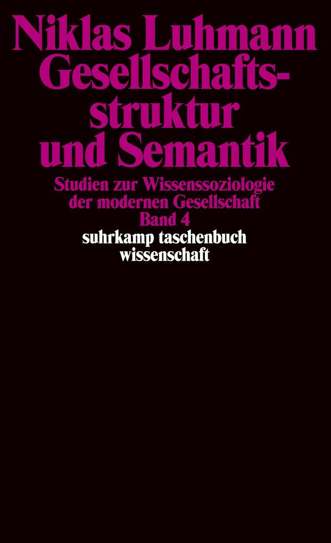 Gesellschaftsstruktur und Semantik als Taschenbuch