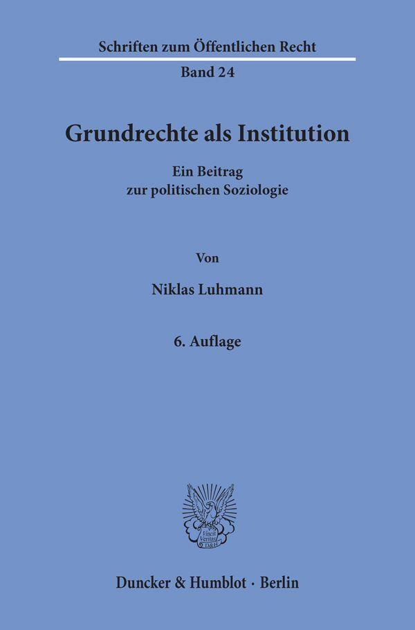 Grundrechte als Institution als Buch