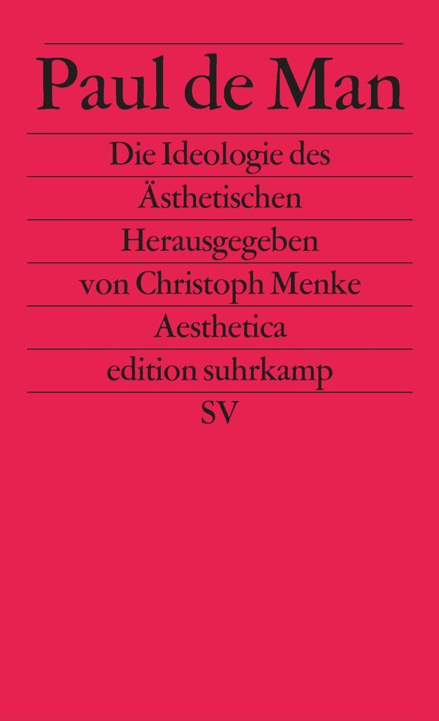 Die Ideologie des Ästhetischen als Buch