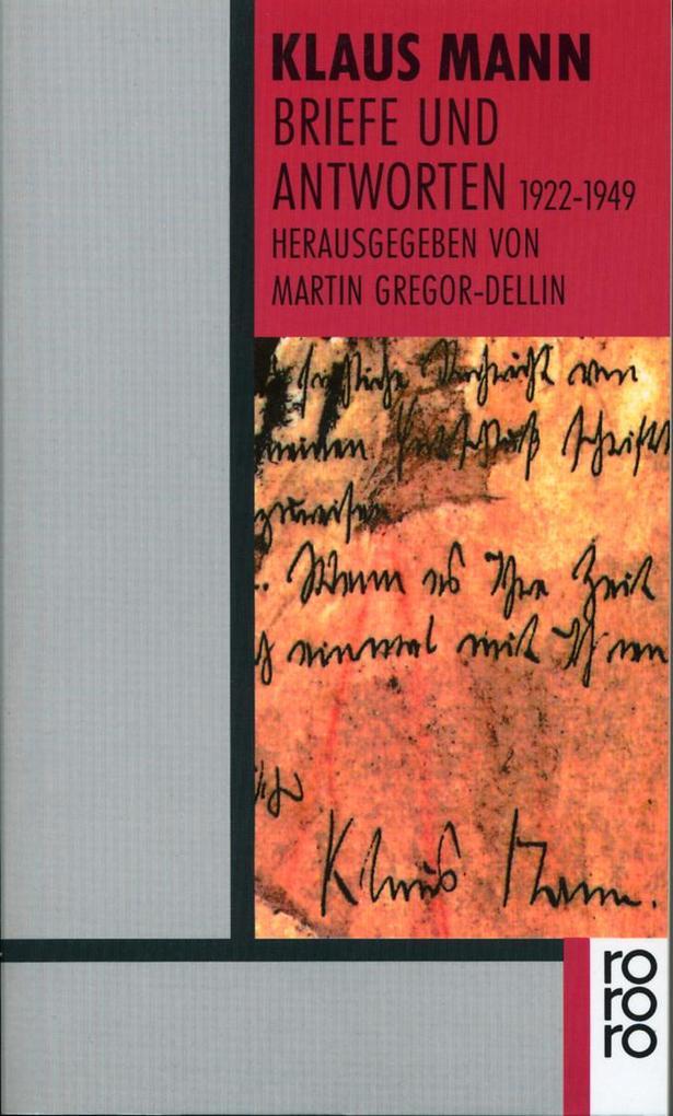 Briefe und Antworten 1922 - 1949 als Taschenbuch
