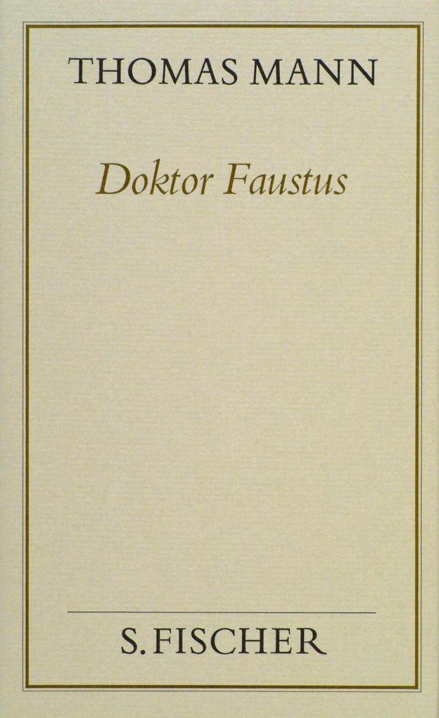 Doktor Faustus ( Frankfurter Ausgabe) als Buch