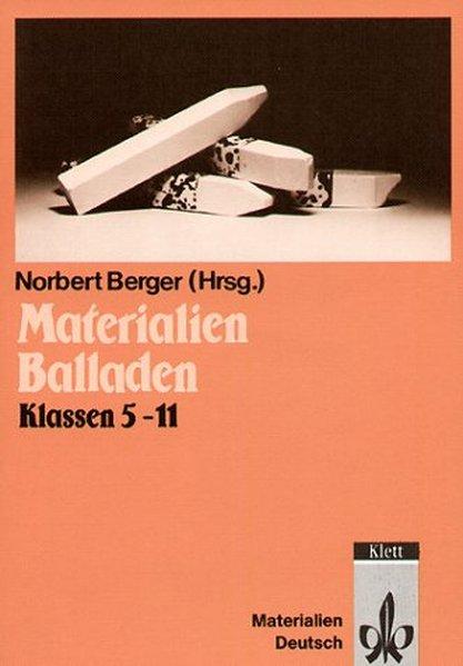 Materialien Balladen als Buch