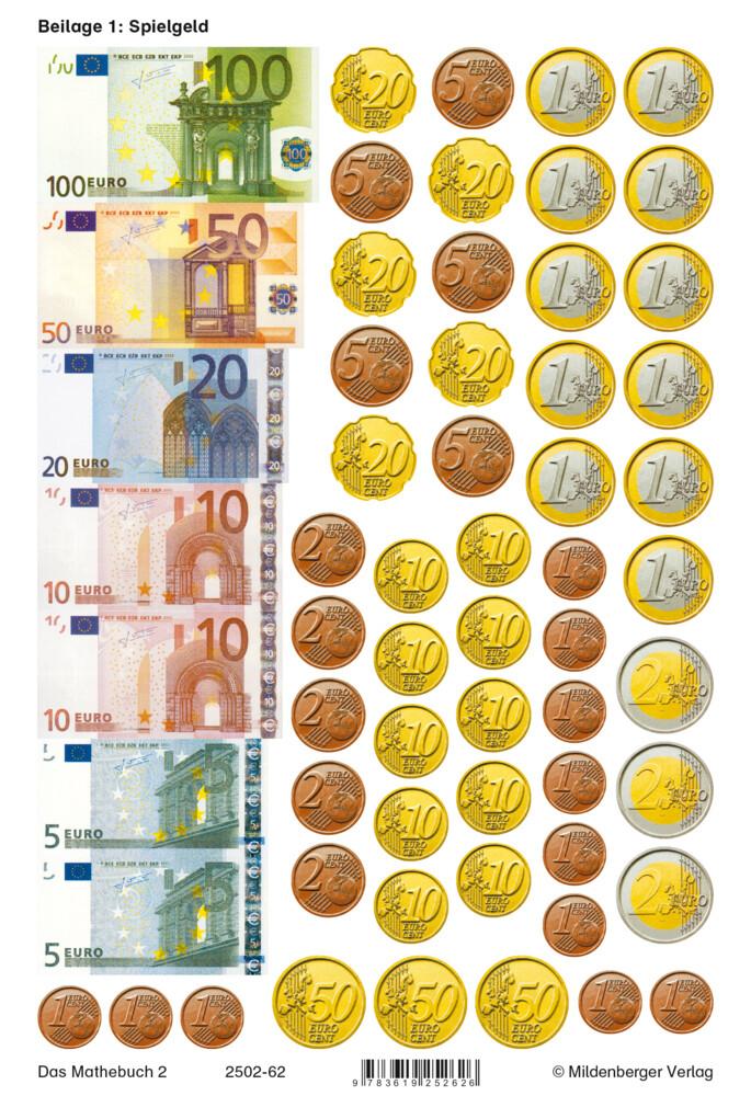 Das Mathebuch 2. Arbeitsbeilagen. Euro-Ausgabe als Buch