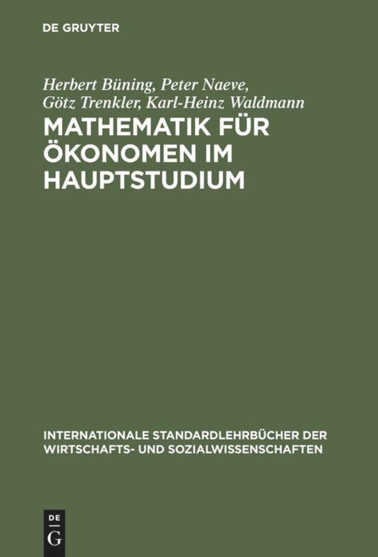 Mathematik f'r 'onomen im Hauptstudium als Buch