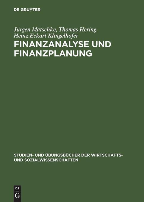 Finanzanalyse und Finanzplanung als Buch