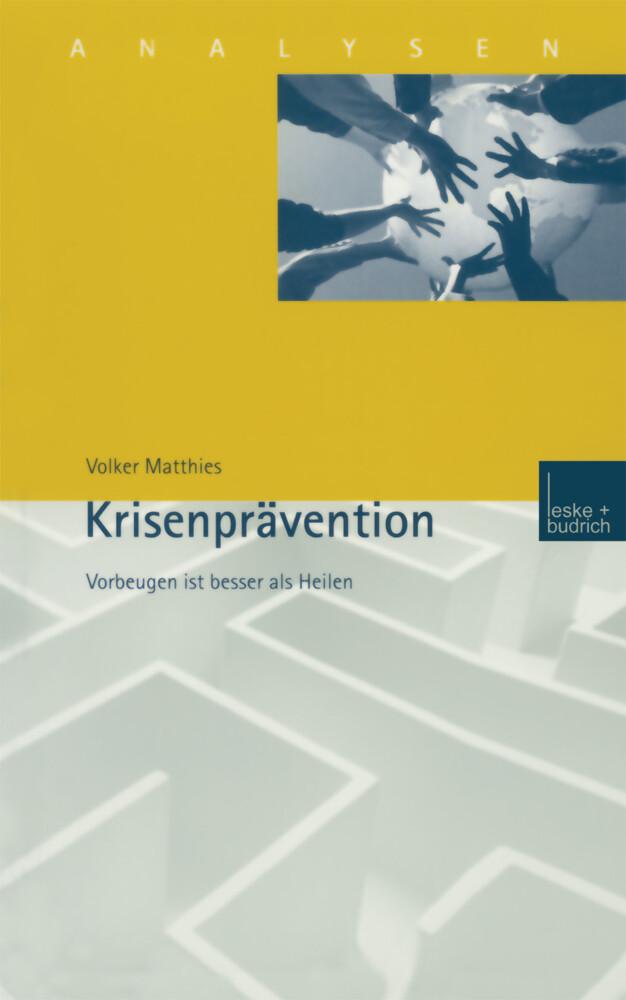 Krisenprävention als Buch