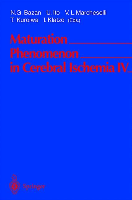 Maturation Phenomenon in Cerebral Ischemia IV als Buch