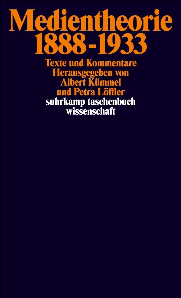 Medientheorie 1888-1933 als Taschenbuch von