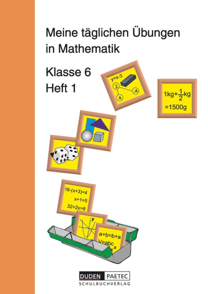 Meine täglichen Übungen in Mathematik Klasse 6 Heft 1. RSR als Buch