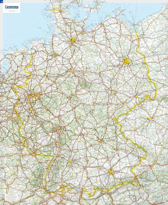 Michelin Deutschland 1 : 750 000. Poster-Karte mit Leiste als Buch