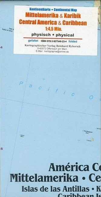 Mittelamerika / Karibik 1 : 4 500 000 Kontinentkarte als Buch