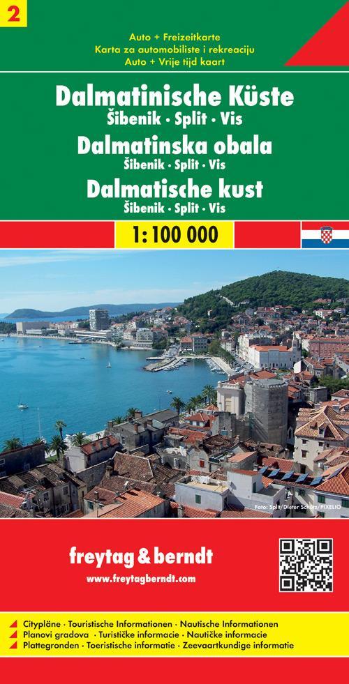 FuB Dalmatinische Küste 02. Sibenik - Split - Vis 1 : 100 000 als Buch