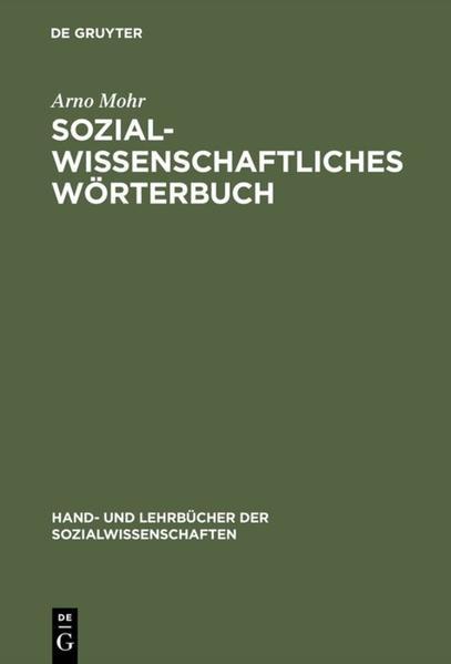 Sozialwissenschaftliches Wörterbuch als Buch