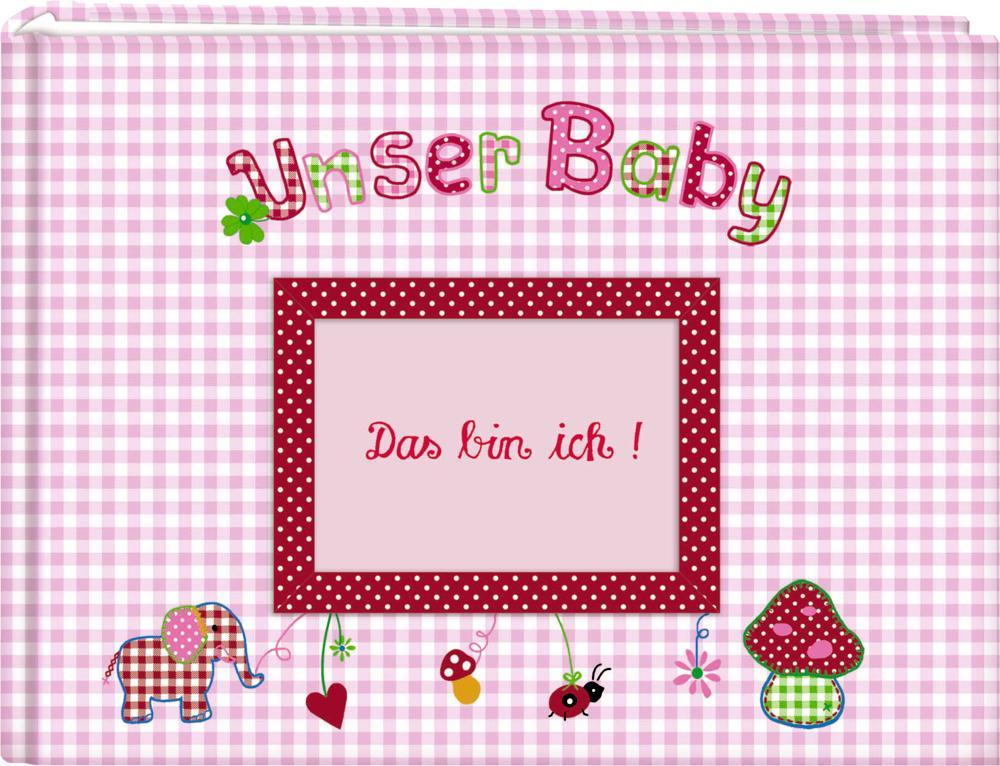 Unser Baby (rosa). Großes Stoff-Fotoalbum