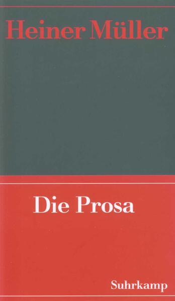 Werke 02. Die Prosa als Buch