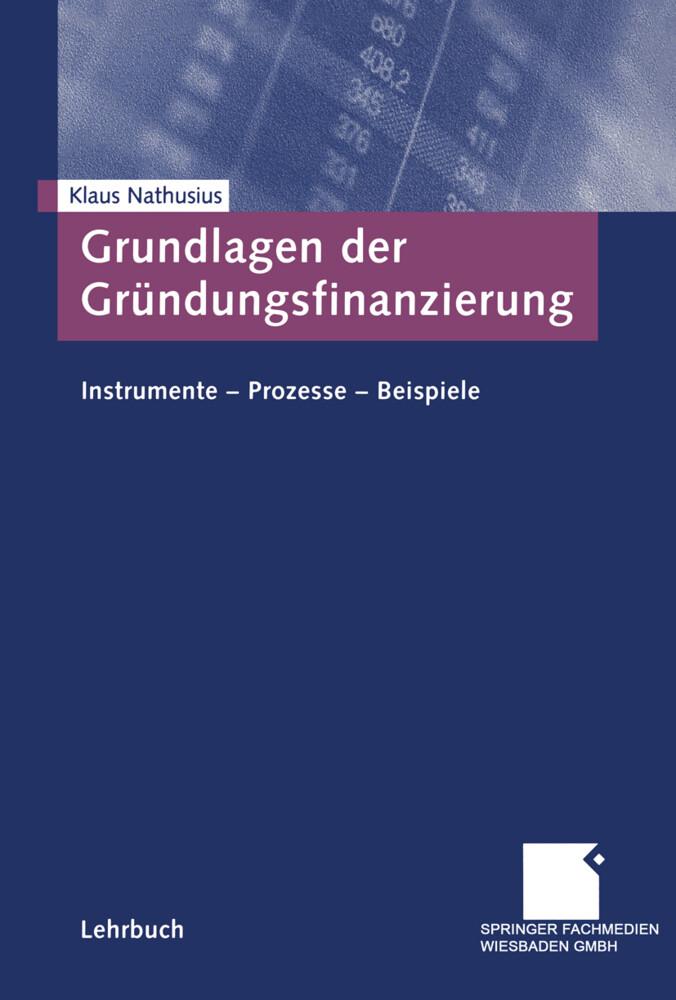 Grundlagen der Gründungsfinanzierung als Buch
