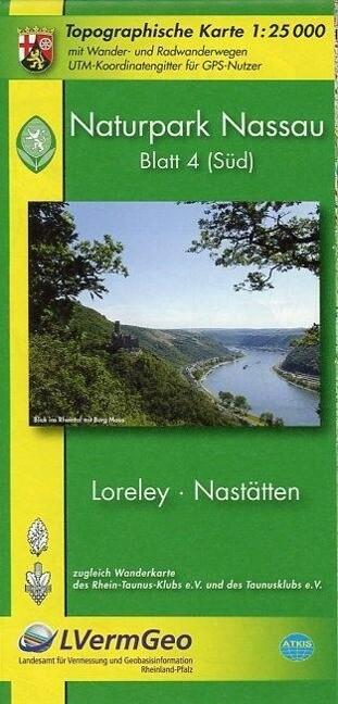 Naturpark Nassau 4 (Süd). Loreley 1 : 25 000. Wanderkarte als Buch